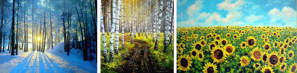 Sunflowers, picture - подсолнухи-картины
