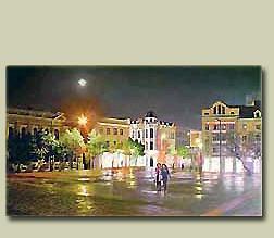 Ночной Кировоград.Центральная площадь.